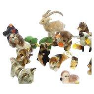 Charming Set of 23 Small Steiff Animals.