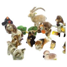 Charming Set of 23 Small Steiff Animals.