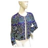 Gorgeous Silk Glass Beaded Bolero Vintage Evening Jacket.