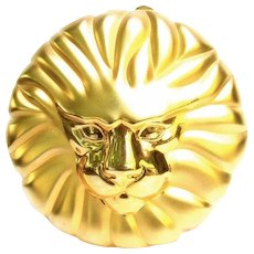Gilt Metal Lion Minaudiere Evening Bag.