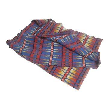 Vintage Woolrich Reversible Wool Blanket. 1960's.