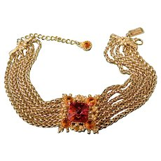 St. John Couture Crystal Choker Chain Necklace. 1990's.