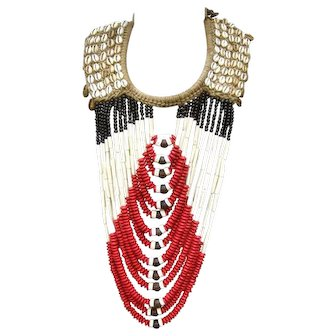 Huge Beaded Tribal Necklace. 1980's.