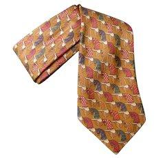 Burberry's Copper Silk Vintage Horse Tie.