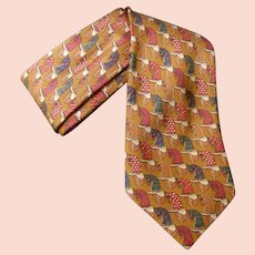 Burberry's Copper Silk Vintage Horse Tie.