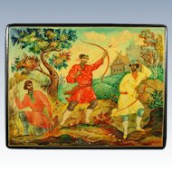 Russian Lacquer Box ''The Frog Princess'' Mstera USSR