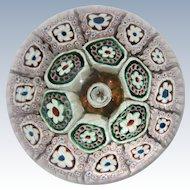 Murano Glass Pastel Millefiori Paperweight Italy
