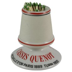"French Pyrogene Advertising Match Striker ""Cassis Quenot"" Table Vesta"