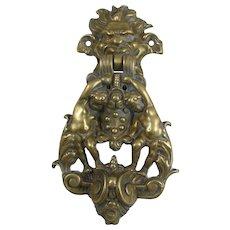 Italian Bronze Lorenzo Medici Coat Of Arms Door Knocker Firenze