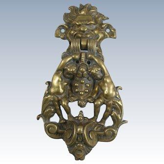 Italian Bronze Medici Coat Of Arms Door Knocker Firenze