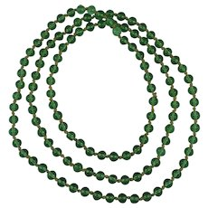 Chinese Qing Peking has Glass Mandarin Court Beads Necklace