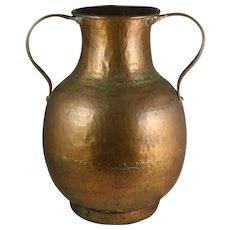 Turkish Hammered Copper Amphora Pot