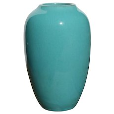Rare California Faience Studio Pottery Turquoise Vase Berkeley