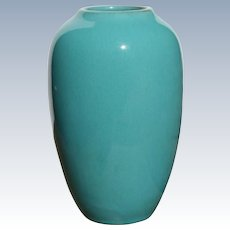 Rare California Faience Studio Pottery Turquoise Vase Berkeley