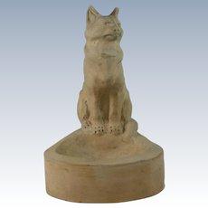 Charles Louis Eugene Virion Model Of A Cat ''Un Chat'' Terra Cotta Sculpture France