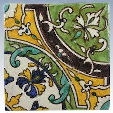 Les Fils de J. Chemla Tunisian Tile w/ Book for Casa Del Herrero Montecito California
