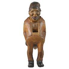 19th Century Carved Wood Figural Nutcracker Switzerland