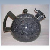 Unique and Rustic Vintage Graniteware Teapot