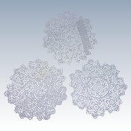 Trio of Hand Made Tatted Doilies FREE USA SHIPPING!!