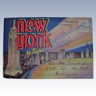 Souvenir Folder of New York by Night Army Postal Stamp