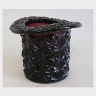 Rare Amethyst Daisy Button Top Hat