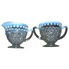 Moonstone By Anchor Hocking Classic Creamer and Sugar