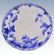 Flow Blue Ridgways Lonsdale Pattern Fruit Dessert  Bowl