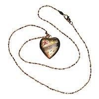 Engraved Heart Gold Filled Locket Necklace