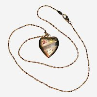 Engraved Heart Gold Filled Locket Necklace