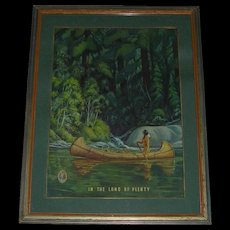 1940's Richard Fayerweather Babcock  (1887 - 1954) Native American Framed Print