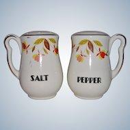 Hall China Autumn Leaf Jewel Tea Salt and Pepper