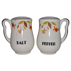 Hall China Autumn Leaf Jewel Tea Salt and Pepper