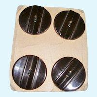 Vintage Bakelite Buttons on Card