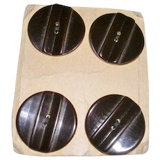 Vintage Bakelite Buttons on Card