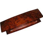 Arts & Crafts Amboyna Burl Wood Desktop Storage Box