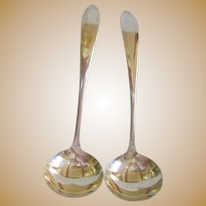 Pair of Sterling Silver 20th Century Ladles