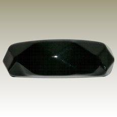 Vintage Faceted Black Bakelite Bangle