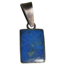 Petite Lapis Lazuli Pendant in Sterling Silver