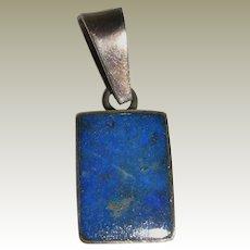 Petite Lapis Lazuli Pendant in Sterling Silver