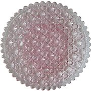 Daisy Button Pink 10 in. Round Plate 1885 Clio Pattern
