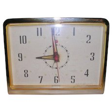 Mid Century General Electric Telechron Desk Clock