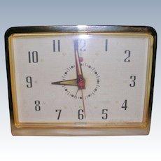 Mid Century General Electric Telechron Desk Clock