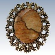 Biggs Picture Jasper Pin Brooch Pendant