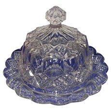 Antique Imperial Glass EAPG Dome Butter Dish