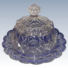 EAPG Glass Dome Butter Dish