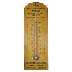 Bazaar Old Advertising Thermometer Idaho