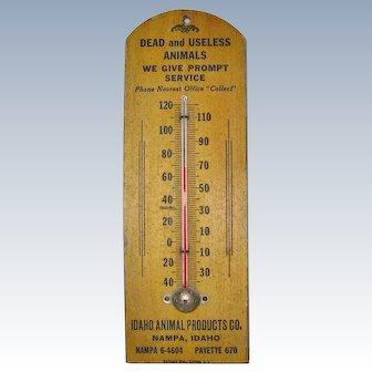 Bazaar Old Advertising Thermometer Idaho