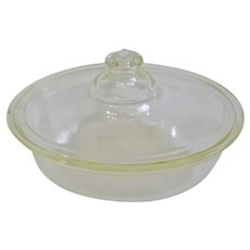 Very Early PYREX Oval Covered Casserole