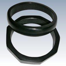 Basic Black Bakelite Bangles