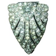 Rhinestone Dress Clip with Pyramid Crystal